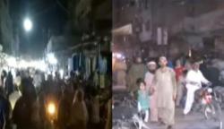 نیو کراچی میں SOPs کی خلاف ورزی، رات گئے تک خریداری
