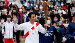 ٹوکیو اولمپکس کی مشعل کا سفر کووڈSOPs کے ساتھ جاری