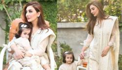 مدرز ڈے: عائشہ خان کی بیٹی کیساتھ دلکش تصاویر مقبول