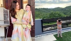 ایمن خان کا بیٹی کے ہمراہ خوبصورت صبح کا آغاز
